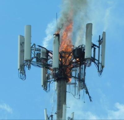Homem é preso por incendiar torre de 5G no Reino Unido