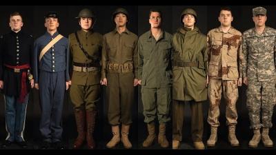 Veja a evolução dos uniformes militares americanos nesse vídeo