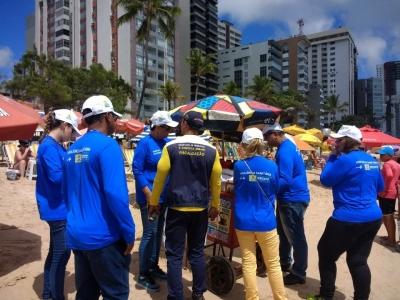 Fiscalização no comércio de alimentos nas praias