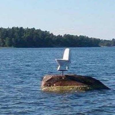 Cagando na água