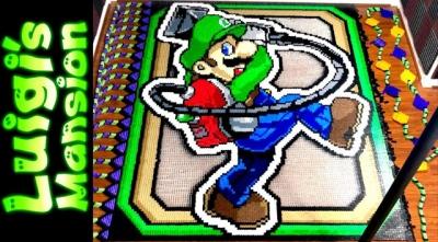 Usando 50,266 dominós para fazer um Luigi