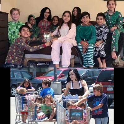 Nadya Suleman, a 'octomãe', revela as dificuldades da quarentena com 14 filhos