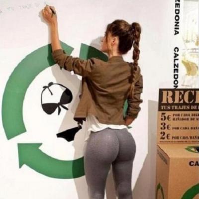 Uma palestra sobre reciclagem nunca ficou tão interessante.
