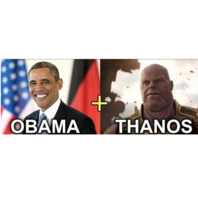 Qual o resultado de Obama e o Thanos?