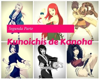 Kunoichis de Konoha (segunda parte) - anime Naruto