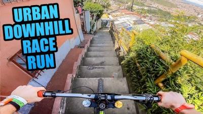 Esse percurso de bicicleta deve ser o mais perigoso de todos