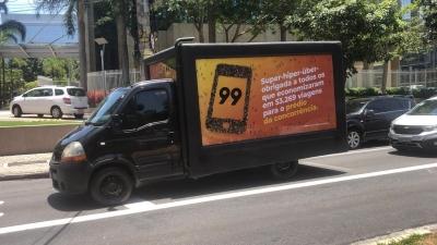 99 agradece a uber pelas mais de 50 mil viagens para seu prédio