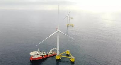 O maior parque eólico flutuante do mundo já produz energia em Portugal