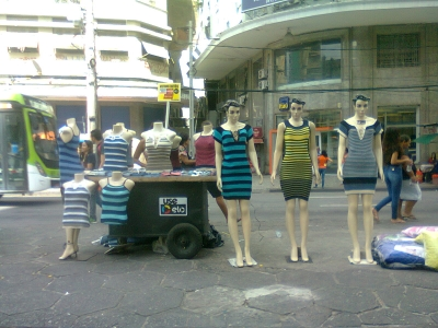 Comércio informal no centro da cidade