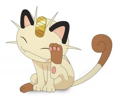 Por que Meowth tem uma moeda de ouro na testa?