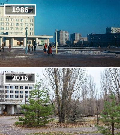 O antes e depois de alguns dos locais mais famosos do mundo