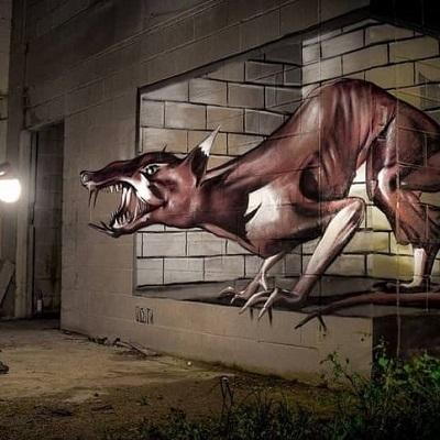 A incrível obra de arte com grafite em 3D do português Sérgio Odeith