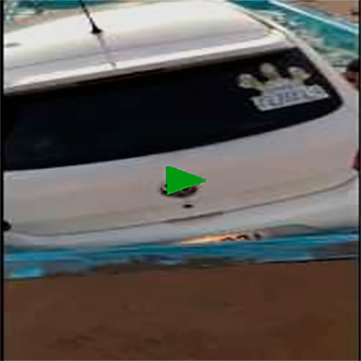 Quem foi que estacionou o carro dentro da piscina?