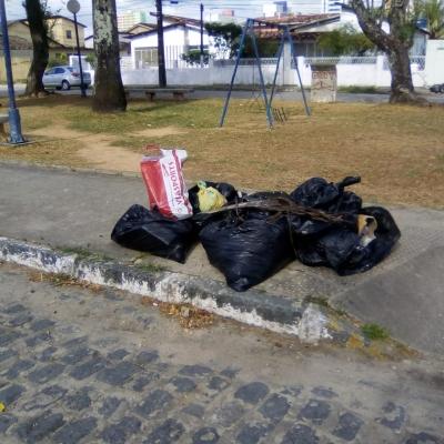 Poluição na Praça