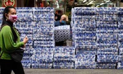 Gangue armada rouba papel higiênico em Hong Kong