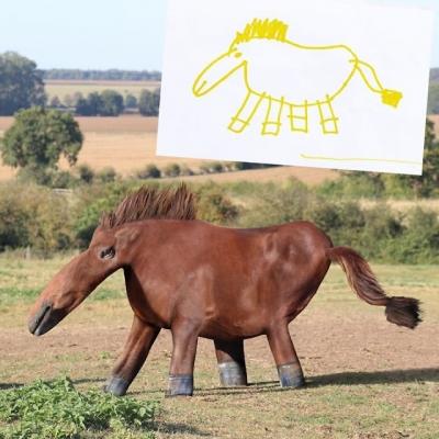 Pai recria desenhos dos filhos no Photoshop, veja o resultado dessa maluquice