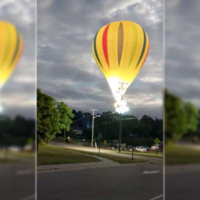 Veja o momento exato que balão atinge rede de alta tensão