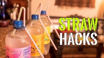 6 Life Hacks com canudos que você não conhecia