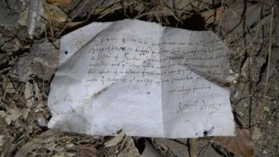Arqueólogos encontram lista de compras do século XVII