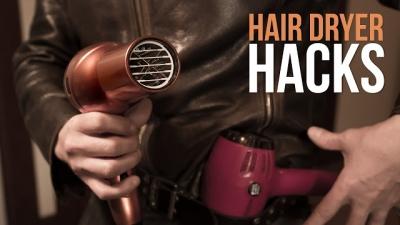 5 Life hacks com secador de cabelo que você não conhecia
