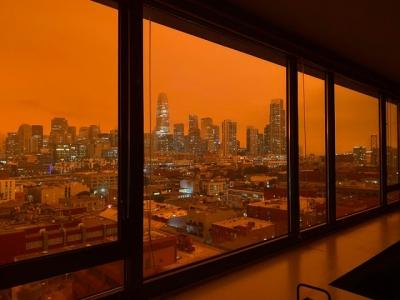 Vídeo mostra São Francisco após incêndios florestais