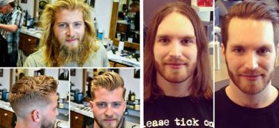 Essas imagens provam que um bom barbeiro é quase igual a um cirurgião plástico!
