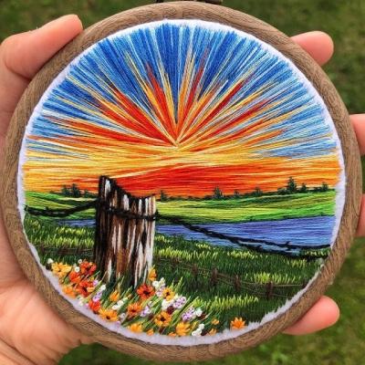 Artista cria paisagens inteiras de bordado #2