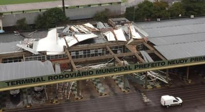 Assista os estragos do Ciclone bomba em Santa Catarina