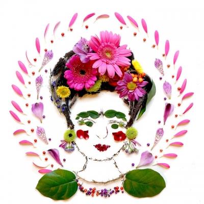 Artista transforma flores em pinturas #3