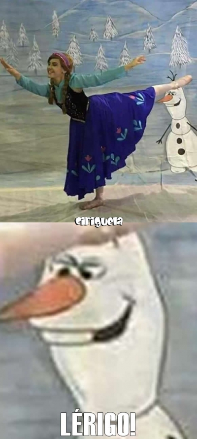 O que se passa na cabeça do Olaf?!