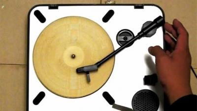 Você pode usar uma tortilha como um disco de vinil?