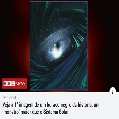 Primeira foto do buraco negro divulgada é falsa