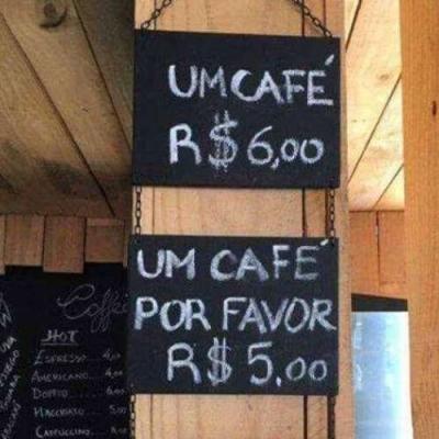 Pedindo café