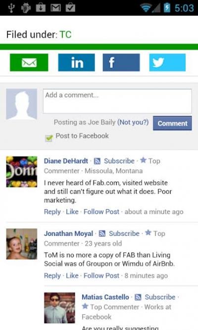 Como colocar comentarios do facebook no celular