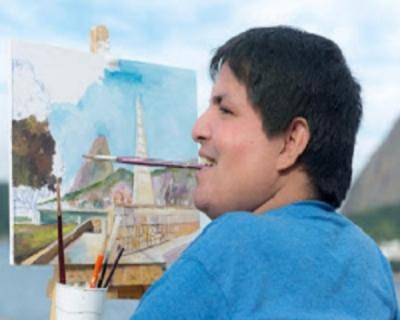 Luciano, pintor com a boca e sua arte maravilhosa!