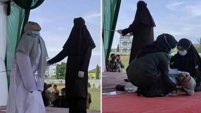 Mulher desmaia após 100 chibatadas por sexo antes do casamento