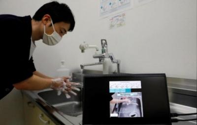 Inteligência artificial japonesa analisa qualidade de lavagem das mãos