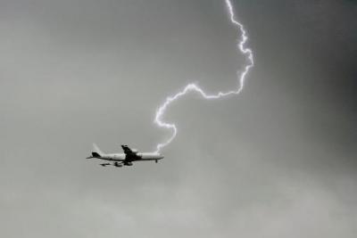 O que acontece se um avião for atingido por um raio?