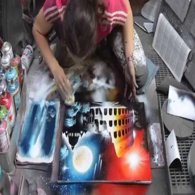 Artista de rua faz quadro incrível com tinta spray