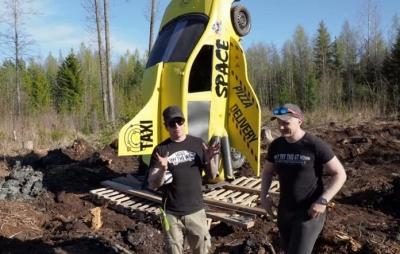 Finlandeses tentam enviar carro ao espaço usando dinamite