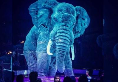 Circo alemão usa hologramas em vez de animais vivos para uma experiência mágica