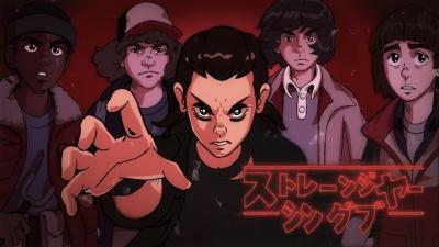 Artista recria Stranger Things como se fosse um anime