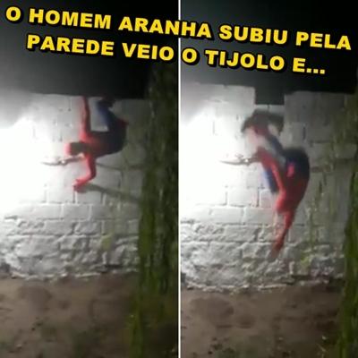 Homem aranha foi derrotado por um tijolo