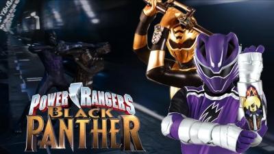 Pantera Negra versão Power Rangers fúria selvagem
