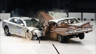 A diferença de 50 anos na segurança de um carro