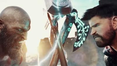 Um luta épica - Kratos vs Thor