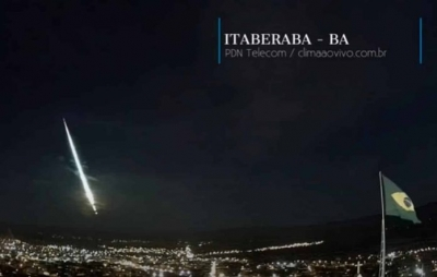 Meteoro cai na Bahia e assusta moradores