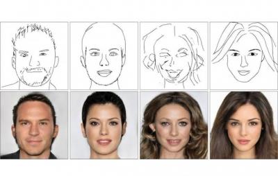 IA chinesa consegue transformar desenhos de rostos em fotos