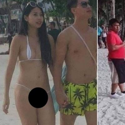 Turista é multada por biquíni fio-dental em praia filipina.,