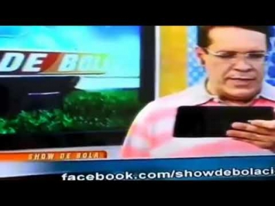 Cuca Beludo sempre participando ao vivo em vários programas de TV